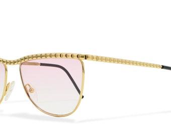Gianfranco Ferre GFF 135 001 Brown Vintage Sunglasses Cateye For Men