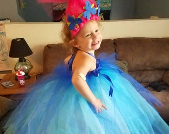 Trolls,Poppy,Costume,Toddler, birthday, Halloween,2-4T,kids