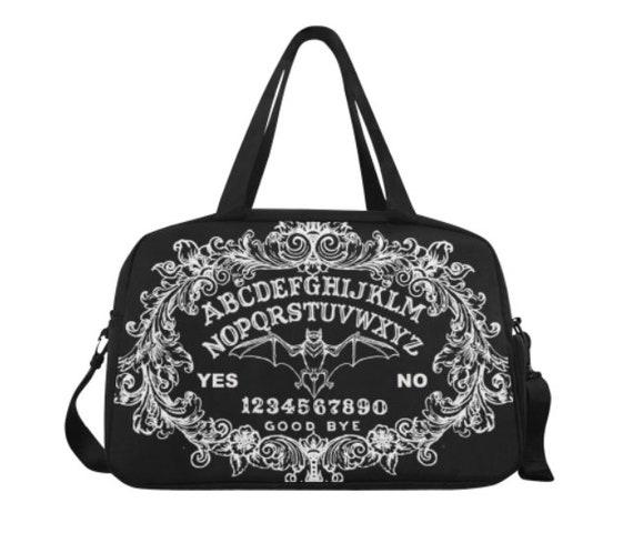 Bat Ouija Travel Bag Black