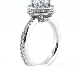 Halo Moissanite Engagement Ring - Alta
