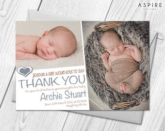Personalised New Baby Thank You | Birth Announcement Photo Cards & Envelopes