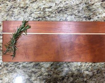Cherry and maple hardwood cutting board