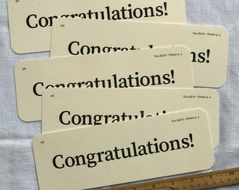 XL Congratulations Flash Cards