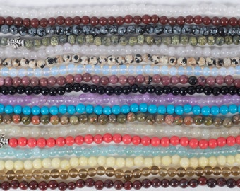 Natural Stone Beads - 20 strands - 4mm