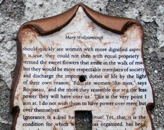 Mary Wollstonecraft Vindication of the Rights of Woman Decoupage Library Book Switch Plate Cover