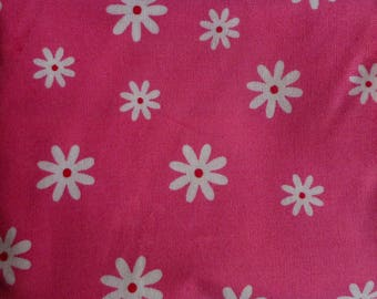 fabric for the pink stitching with small white flowers No. 3