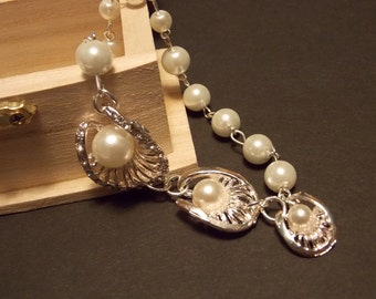 Mermaid Inspired Pearl Necklace