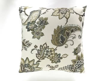 floral paisley cushion cover/ paisley pillow case/ paisley pillow/ floral/ floral pillow covers/ floral pillow cover/ decorative pillows