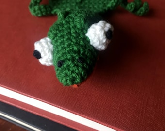 Lizard Crocheted Bookmark | Ready To Ship | Book Lover Gift | Reptile Fan Gift | One Of A Kind Bookmark | Lizard Plushy | Wild Animal Gift