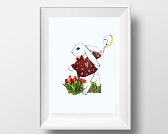 Alice in Wonderland's rabbit