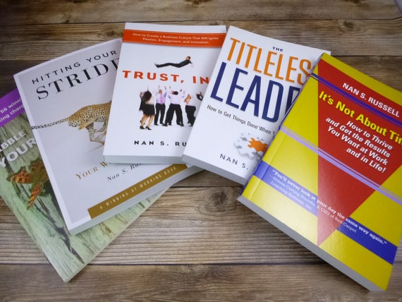 Any 5 Nan Russell Books Signed | Mix and Match However You Want | Build Futures with Self-Development or Staff Development Gifts