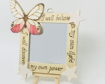 Butterfly Mirror Wall Hanging