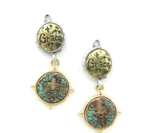 Pair of Multi Tone Grace Charms