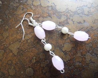 Oh Audrey Glass & Pearl Beaded Dangle earrings