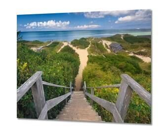 Large Metal Wall Art, Nantucket Photo, Beach Photography, Aluminum Metal Print Ocean Sea Picture Sand Dunes Cape Cod Artwork Oversized Print