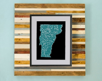 Vermont County Map - Hand Drawing