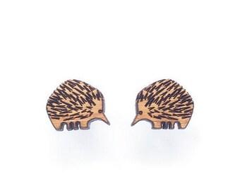 Echidna earrings - Australian animal studs - Australian gift idea - australiana jewellery