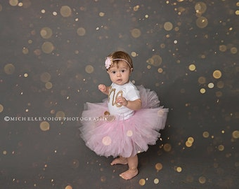 First Birthday Outfit Girl, 1st Birthday Girl outfit, Cake smash outfit girl, Girls first birthday outfit, Gold First birthday, Pink Tutu