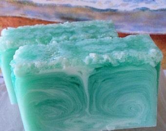 Ocean Rain Sea Salt Soap - Ocean Rain Soap - Sea Salt Soap - Ocean Soap - Handmade Soap - Glycerin Soap - Blue Rain Soap - Blue Ocean Soap