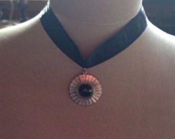 Women's Black Choker Style Necklace Gift - c43