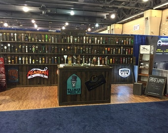 Trade Show Rustic custom portable wall with Shelfs - display for shop or booth - Wall only