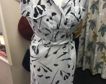 Vintage 1980s Pattern Shirt Dress