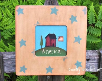 4th of July decor, primitive home decor,  Americana decor, summer decor, rustic wood sign,  Saltbox house, best selling items, mother gift