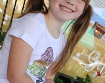 ICE CREAM CONE short sleeve rhinestud tee - for kids - by Daisy Creek Designs