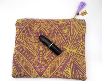 FREE SHIPPING Tropical Pattern Travel Organizer, Personalized Makeup Bag, Zipper Pouch, Pencil Case, Makeup Bag, Customizable Tote Bag