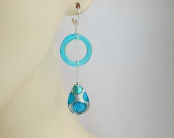 Murano Glass Peardrop Earrings