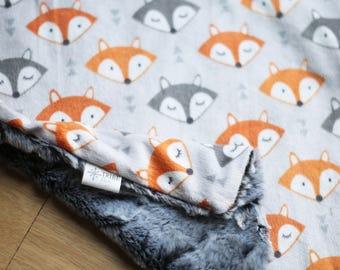 Woodland Fox Minky Lovey