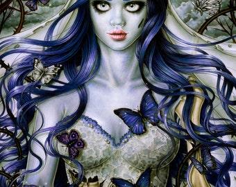 Emily- Corpse Bride- Fantasy Gothic Art -  Print 8x10