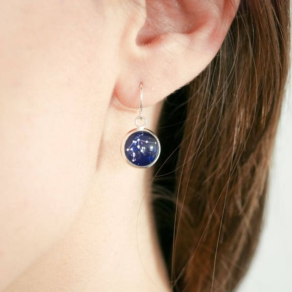 Personalised Constellation Drop Earrings