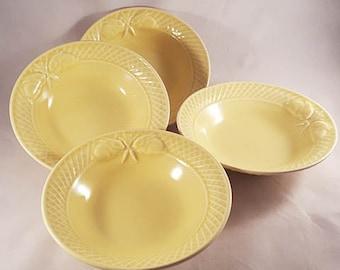 Bordallo Pinheiro Yellow Rabbit Bowls..PREPAID SHIPPING