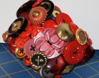 Vintage button cuff bracelet