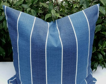 Available in 3 Colors - Stripes Richloom Solar Indoor/Outdoor Wickenburg Decorative Outdoor Pillow Cover with Hidden Zipper