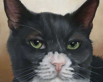 Custom Pet Portrait - Oil painting, dog art, cat art, gift for cat lover, gift for dog lover