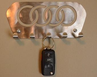 Audi key holder rack, cars, performance, audi tt, audi a3, audi r8, leash holder, hat rack, metal key holder, metal key rack, metal wall art