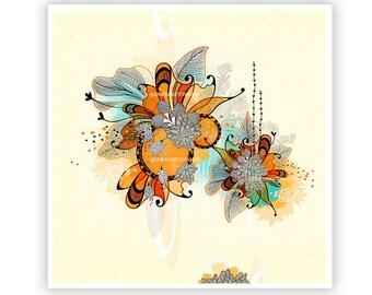Sunset by Iveta Abolina - Floral Illustration Print