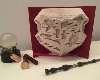 Folded origami folding book art Harry Potter book