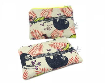 Mini zipper pouch Sloth