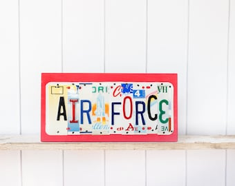AIR FORCE SIGN - Air Force Retirement gift - Air Force Academy graduation gift - gift for airmen - military theme decor - Air Force Art