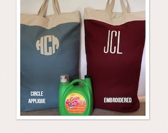 Personal Monogrammed Laundry Bag // Graduation Gift // College Gift