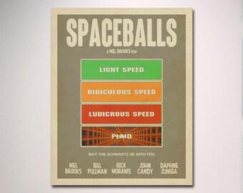 SPACEBALLS Inspired Minimalist Movie Poster / Minimalist Movie Poster / Wall Art