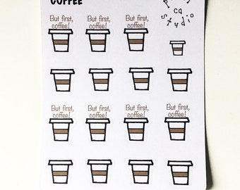 Coffee Planner Stickers