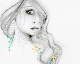 Fashion Illustration Print Fashion Sketch Fashion Print Fashion Wall Art Fashion Girl Art Girl Art Women in Art the Beauty Within Beauty Art