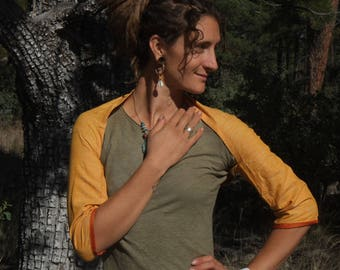 Khadi Silk Bolero -  Handwoven Indian Silk - Simple Elegant Accessory