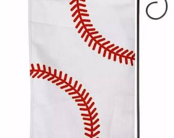 Personalized baseball garden flag
