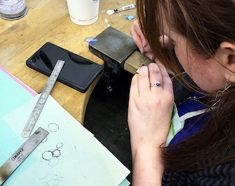 Full Day Silver Jewellery Class - Beginner's - Sheffield. Make your own silver jewellery.