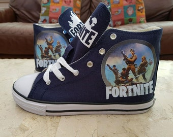 Custom Canvas Fortnite Shoes Personalised High Tops Sneakers Pumps